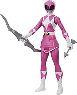 Power Rangers Mighty Morphin Pink Ranger 12-Inch Action Figure Toy Inspired by Classic Power Rangers TV Show, with Power B...