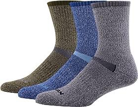 MK MEIKAN 66.6% Merino Wool Hiking Socks, Men's Trekking Cushion Crew Socks 1, 3, 4, 6 Pairs