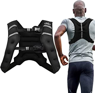 Aduro Sport Weighted Vest Workout Equipment, 4lbs/6lbs/12lbs/20lbs/25lbs/30lbs Body Weight Vest...