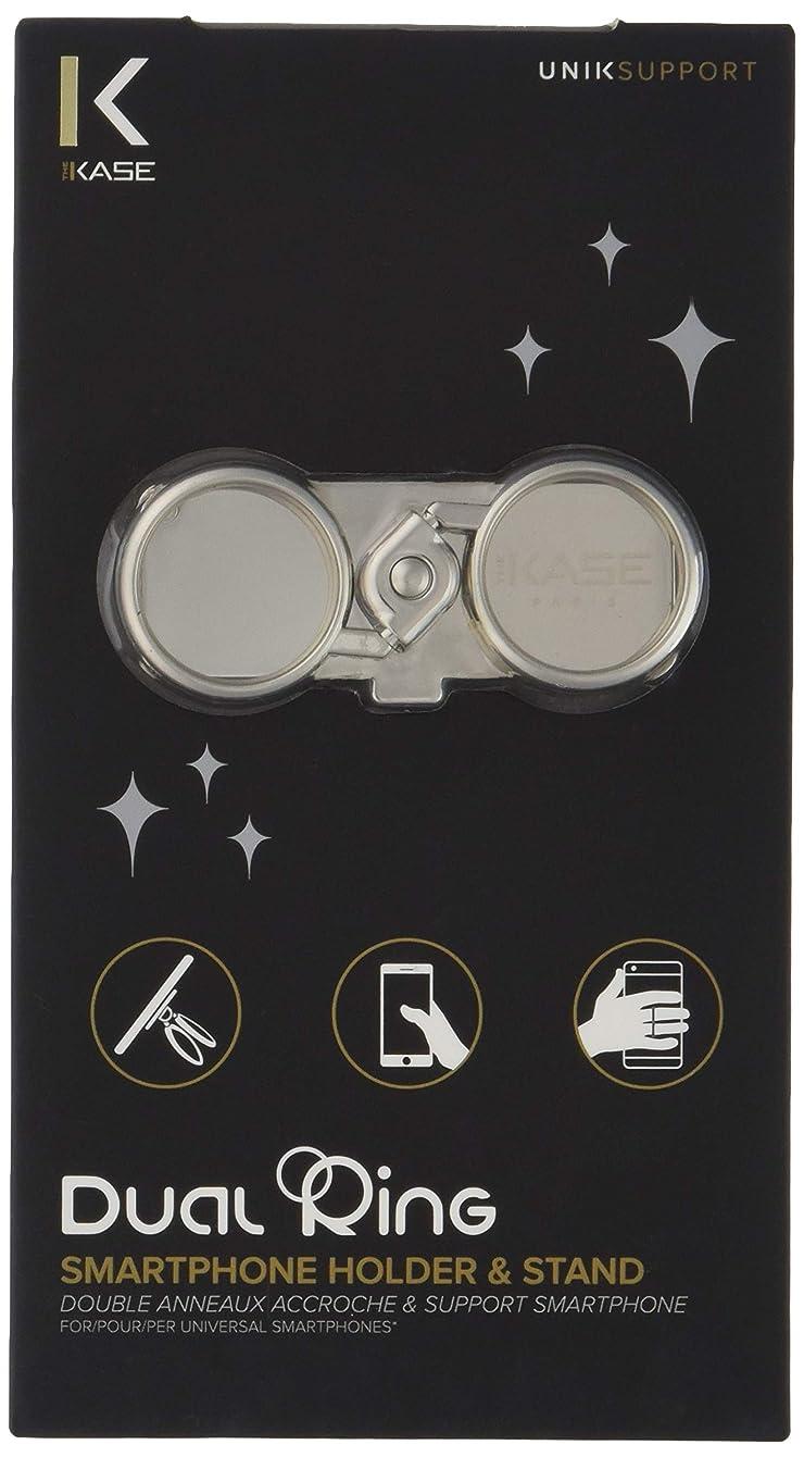 建築バターミュウミュウ【The Kase/ケース】Dual-Ring Smartphone Holder & Stand スマホ ダブルリングホルダー&スタンド メタルシルバー 38906969