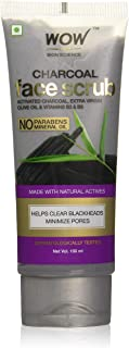 WOW Skin Science Activated Charcoal Face Scrub, 100 ml