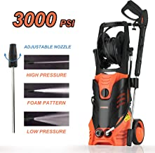 SUNCOO Electric Pressure Washer, 3000 PSI 2.4 GPM Portable Power Washer with Spray Gun, Adjustable Nozzle,20ft High Pressure Hose, Hose Reel (Pressure Washer Machine, Pressure Cleaner, Car Washer)