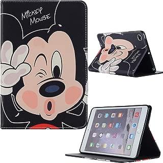 Microgadget iPad Mini 1 2 3 4 5 Flip Case Cover with Auto Sleep/Wake Function Stand Mickey Disney Cartoon Kids iPad Case for Apple