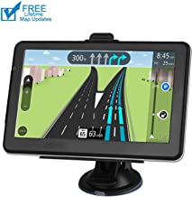 Car GPS Navigation, 7-inch HD Display, 256M Running Voice Broadcast Front Route, Top Loading North America Map Contains (USA, Canada, Mexico) Lifetime Map Free Update