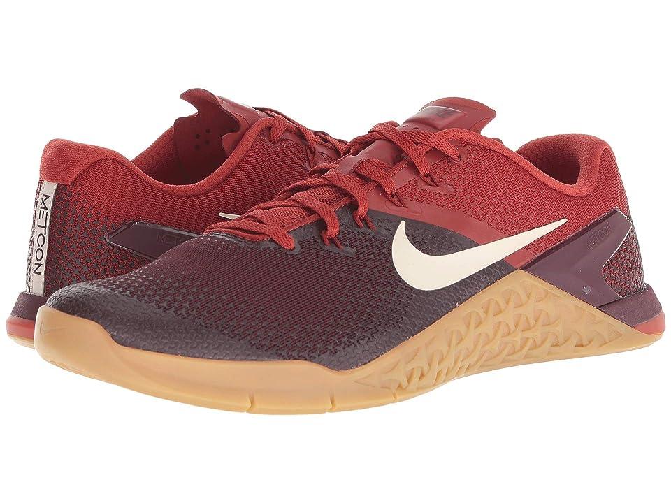60bc21cce0643 Nike Metcon 4 (Burgundy Crush/Light Cream/Dune Red) Men's Cross Training  Shoes - 6pm.com - imall.com