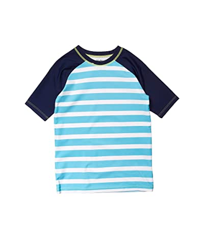 Hatley Kids Stripe Short Sleeve Rashguard (Toddler/Little Kids/Big Kids) (Blue) Boy