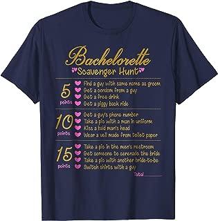 Bachelorette Party Scavenger Hunt Checklist Game T-Shirt