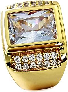 خاتم رجالي مجوهرات بحجم 8-15 من Wayne، مقاس AAA بلون الياقوت الأزرق 18 قيراط R199