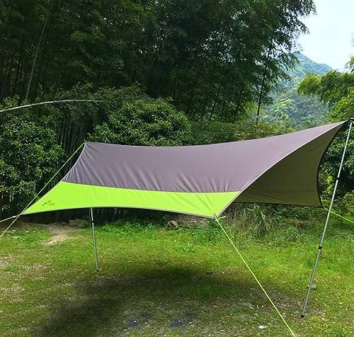 Tente Nouvelle à baldaquin GJX, Grande de Camping en Plein air en Tissu Oxford, Colonne de Camping en Aluminium à l'ombre du Soleil et à la Pluie, Grande pergola (5-8 Personnes)
