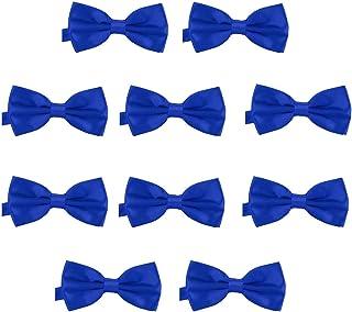 7dfa7f0c92261 DonDon Lot de 10 Noeud papillon pour homme 12 x 6 cm avec crochet déjà lié