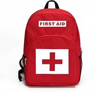 E-FAK Red Backpack for First Aid Kits Pack Emergency Treatment or Hiking, Backpacking, Camping, Travel, Car & Cycling.