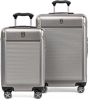 Travelpro Platinum Elite Hardside Expandable Spinner Luggage, Metallic Sand, 2-Piece Set (21/25)
