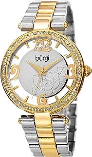 Burgi Women's Silver Dial Alloy Band Watch - Bur148Ttg, Analog Display