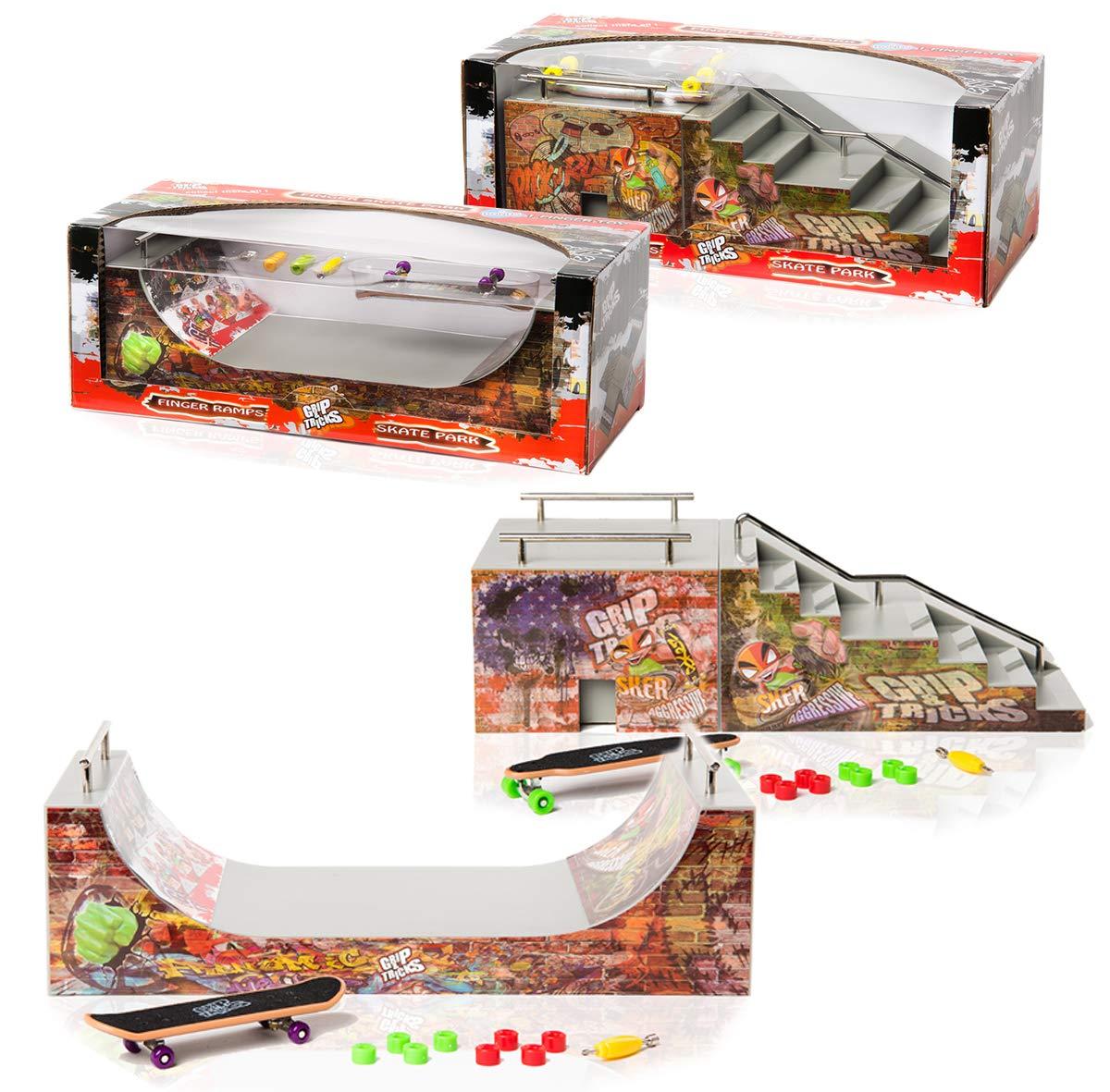 Finger Boards & Finger Bikes Toys & Games Halfpipe RAMPS for ...