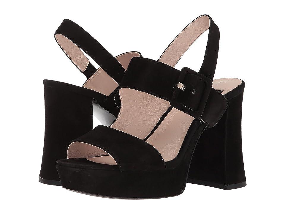 26d076823368 Nine West Lexine 40th Anniversary Platform Heeled Sandal (Black Suede)  Women s Sandals