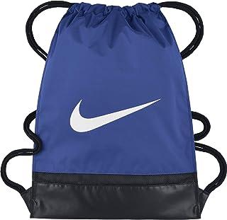 Nike Brasilia Training Gymsack, Drawstring Backpack with Zippered Sides, Water-Resistant Bag