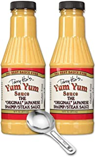 Terry Hos Original Sauce Yum Yum 16 Oz (Pack of 2) with metal spoon