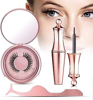 VASSOUL Magnetic Eyelashes With Eyeliner, Magnetic Eyeliner And Lashes, Magnetic Eyeliners With Advanced 3D Magnetic Eyelash, Magnetic lashliner, And Applicator