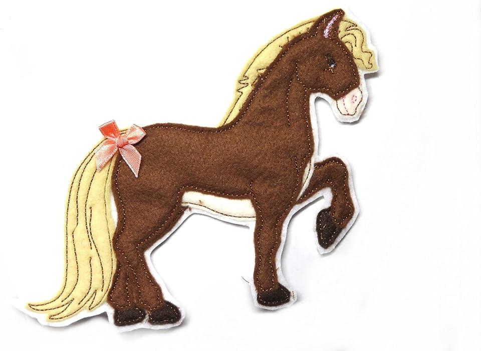 Applikation Pferde gestickt Aufnäher Pony freie Farbwahl