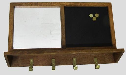 Decorative Wall Shelf with Hooks - Wood - Threshold™ : Target