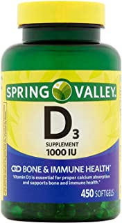 Spring Valley - Vitamin D-3 1000 IU, 450 Softgels