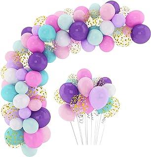 LELE Party Supplies Balloons Arch Kit - 132 Pcs Latex Balloons Confetti Balloon Garland Strip Set for Baby Shower, Paw Bir...