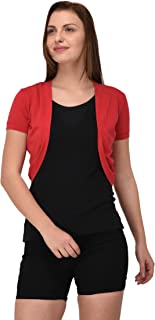 Espresso Women's Front Open Short Shrug