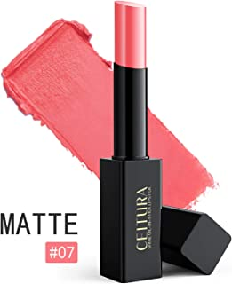 Barra De Labios Mate Permanente De Pintalabios Impermeable Natural Brillo De Labios 007 Coral Red