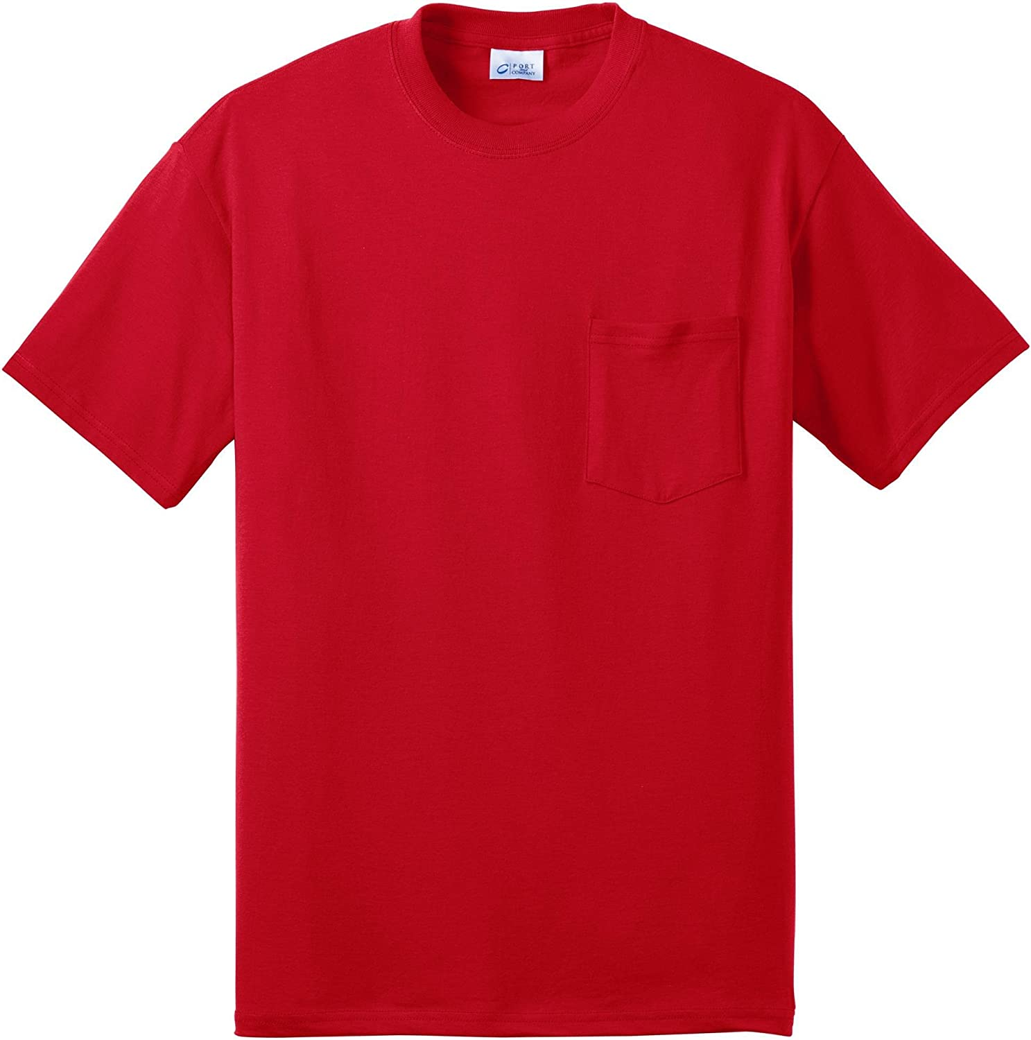 Port & Company Tall 50/50 Cotton/Poly T-Shirt with Pocket>2XLT Red PC55PT