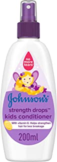 JOHNSON'S Toddler & Kids Conditioner Spray - Strength Drops, Formula Free of Parabens & Dyes, 200ml