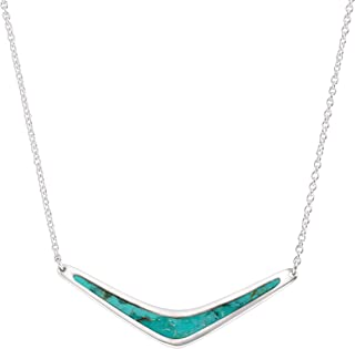 Reversible Boomerang' Compressed Turquoise Necklace in...