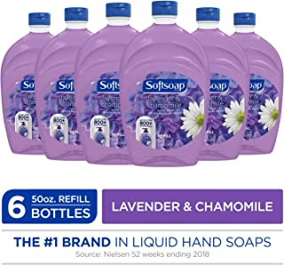 SOFTSOAP Liquid Hand Soap Refill, Lavender and Chamomile, 50 Ounce Bottle, Bathroom Soap, Bulk Soap, Lavender Hand Soap, Premium Scented Hand Soap