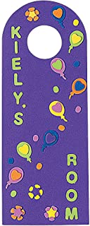 """Fun Activity Bright Assorted Colors DIY Door Tag Approx 4/"""" x 11/"""" Hygloss Products Bright Tag Door Hangers Great for Arts /& Crafts 48 Pack"""