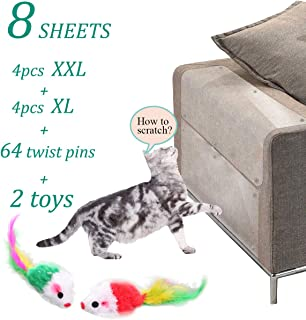 Anti Cat Scratching Deterrent Tape, Scratch Protection Tapes for Pet, Clear Double Sided Training Tape, How to Love Your Pet by Protect Your Upholstered Furniture is The Best Choice(8 Pcs,64 Pins)