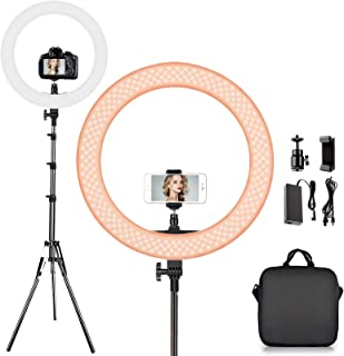FOSITAN LEDリングライト 「外径14インチ/36cm」カメラ写真ビデオ用照明セット 2mスタンド付き 5500K/3200K 無段階調整可能なyoutube ライト 照明 動画用撮影ライト カメラ/携帯電話に対応 スマホ用 写真ビデオ...