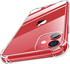 MoKo Compatible with iPhone 11 Case, Clear Reinforced Corners TPU Bumper + Anti-Scratch Transparent Hard Panel Cover Fit Apple iPhone 11 6.1 inch 2019 - CrystalClear
