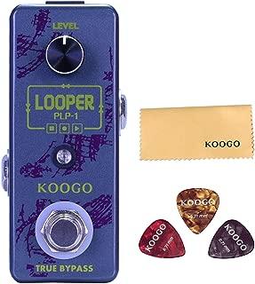 Koogo Looper Effect Guitar Pedal 10 Minutes of Looping Unlimited Overdubs