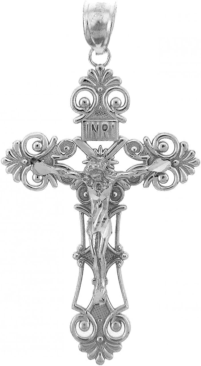Religious Al sold out. Jewelry by FDJ Sterling Inri Max 65% OFF Pendant Silver Crucifix