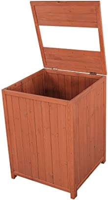 Leisure Season TR6565-V Patio Trash Receptacle Storage-Sheds, Medium Brown