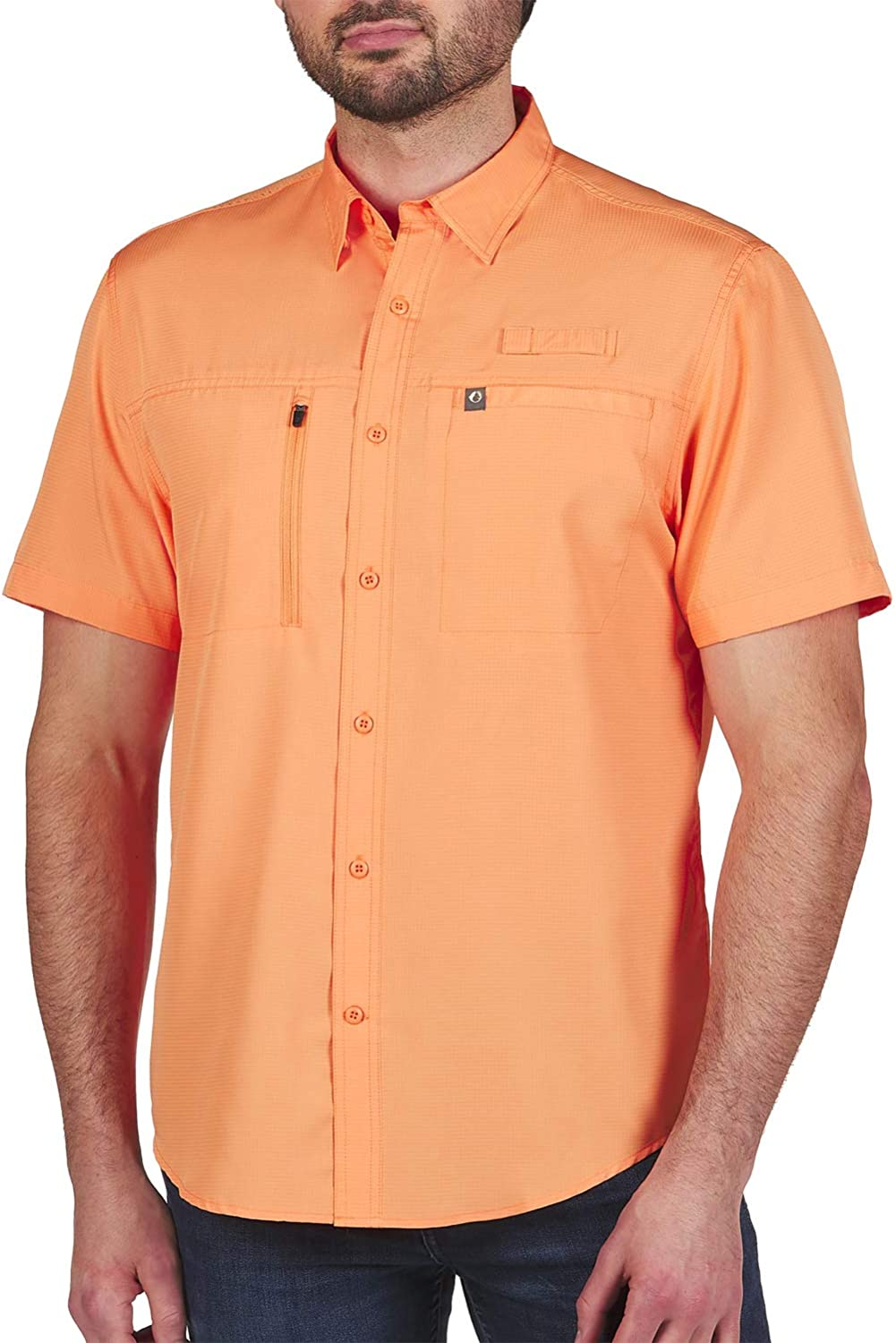 Indian River Fishing Shirt for Men UPF 40 Sun Protection with Quick Dry Technology