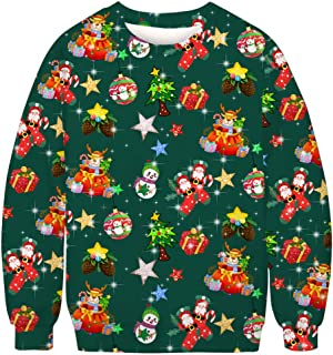 Christmas Men's Funny Ugly 3D Print Sweater Long Sleeve Sweatshirt Top Blouse