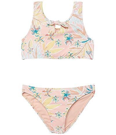 Roxy Kids Friendly Story Crop Top Set Swimsuit (Toddler/Little Kids/Big Kids)