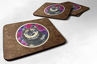 "Caroline's Treasures SS1063FC Finnish Lapphund Foam Coasters (Set of 4), 3.5"" H x 3.5"" W, Multicolor"