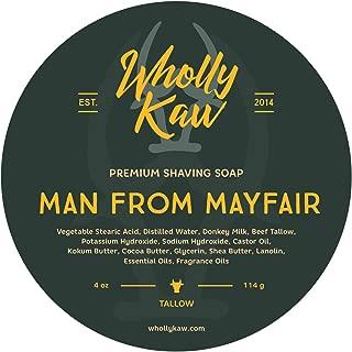 WhollyKaw Donkey Milk Shaving Soap, Man from Mayfair