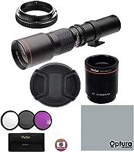 High-Power 500mm/1000mm f/8 Manual Telephoto Lens for Panasonic Lumix GH5 GH4 GH3 GX85 G85 GX850 GX8 GX7 G7 G6