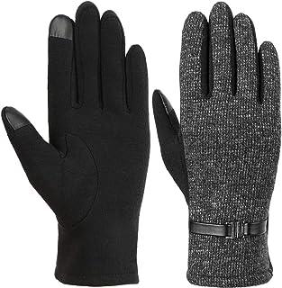 VBIGER 手袋レデイース グローブ 女性 スマホ対応手袋 暖かい手袋 トレッキング手袋 裏起毛 保温 おしゃれ