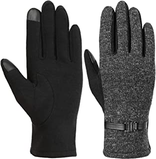 Women Winter Gloves Warm Touch Screen Gloves Chamois Leather Driving Gloves Fleece Thermal Gloves for Ladies