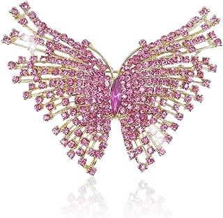 Ever Faith Cristal Autrichien Art Nouveau Machaon Papillon Insecte Animal Broche Multicolore Ton dargent