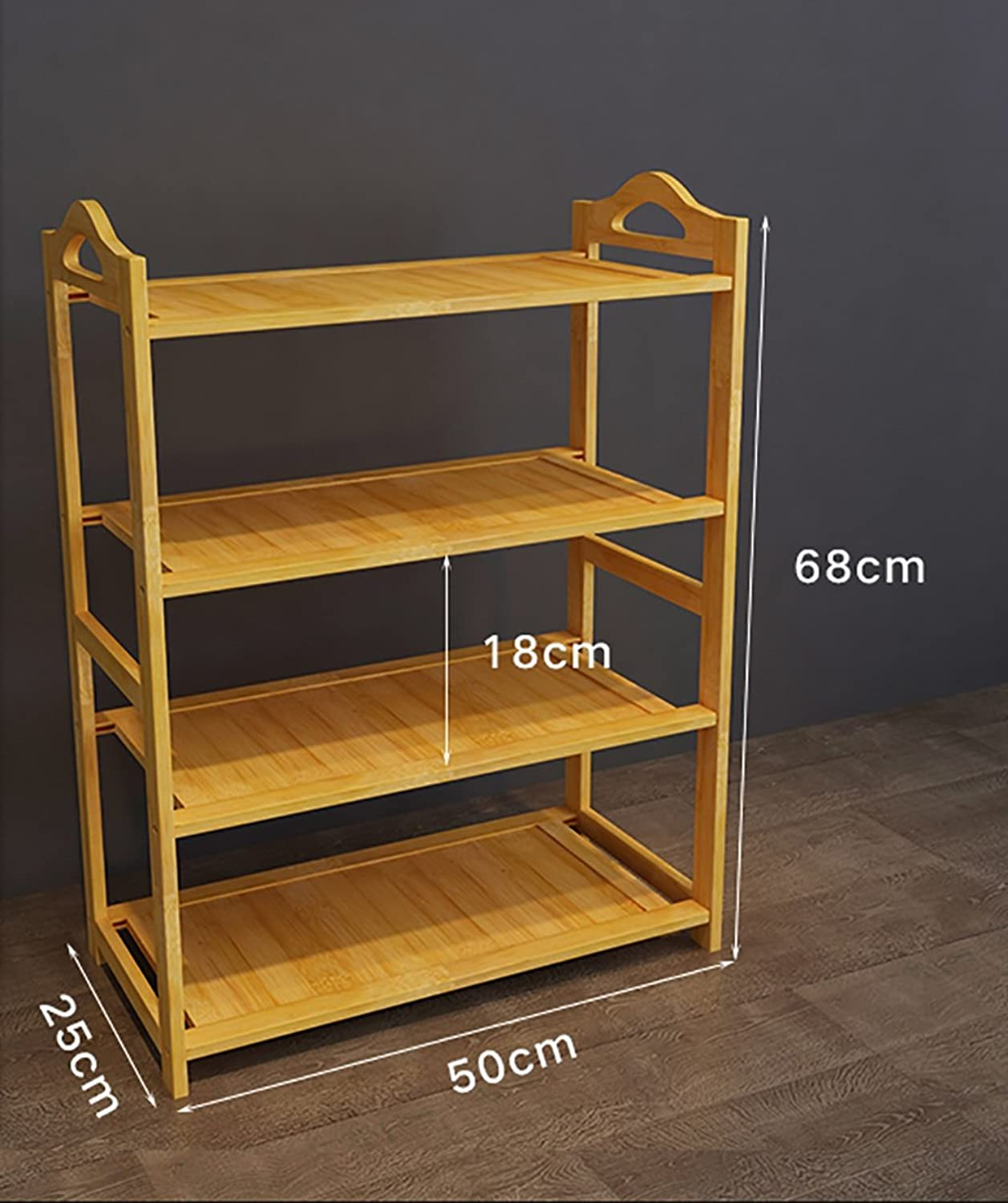shoes Bench Organizing Rack Solid Wood shoes Rack, Simple Four-Storey shoes Cabinet, Multi-Functional Slippers Rack, Economical Home shoes Rack, shoes Storage Rack (Size   50cm)
