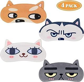 Tacobear 4 piezas Antifaz Para Dormir Divertido Mujeres Hombres Niños Mascara Para Dormir Perro Gato Lindo Animal 3D Sueño Máscara Para Dormir Viajes Resto